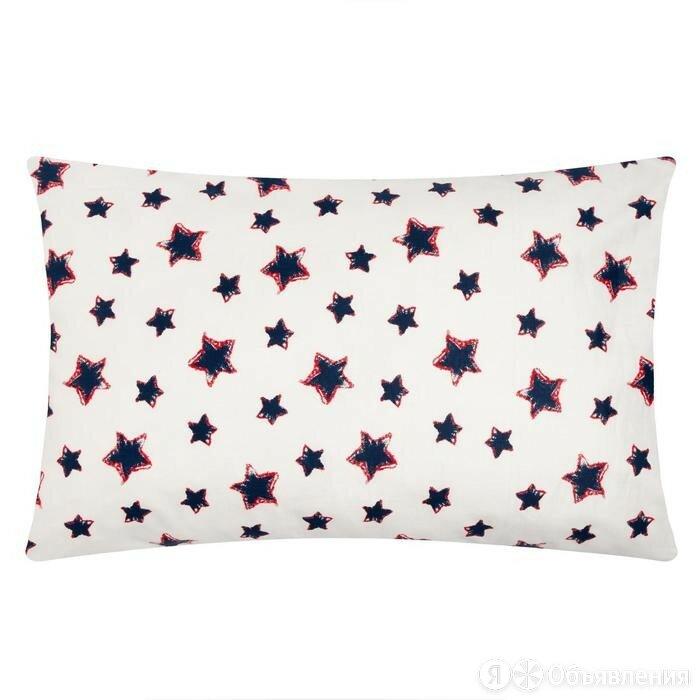 """Наволочка """"LoveLife"""" Blue stars 40х60 см,100% хлопок, сатин по цене 340₽ - Постельное белье, фото 0"""