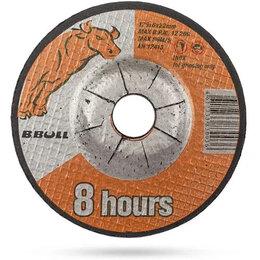 Для шлифовальных машин - Круг зачистной B.Bull 8 hours 125x6x22 мм. Для УШМ (болгарка), 0