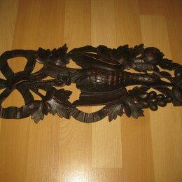 Интерьер - Накладка старинная, деревянная. ПТИЦА. (ПАНО)., 0