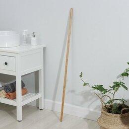 Черенки и ручки - Черенок деревянный, лакированный, 119×2,2 см, c еврорезьбой, 0