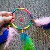 Новый Ловец снов разноцветный с перышками по цене 200₽ - Сувениры, фото 1