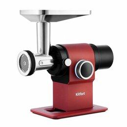 Мясорубки - Мясорубка Kitfort KT-2110-1, красная, 0