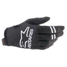 Мотоэкипировка - Мотоперчатки Alpinestars youth radar gloves черно-белые , 0