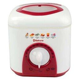 Фритюрницы - Фритюрница Sakura SA-7654, обьем 1 л, мощность 950 Вт, бело-красный, 0