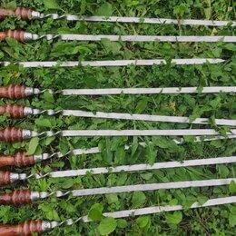 Шампуры - Шампур с деревянной ручкой, 55-75 см, 0