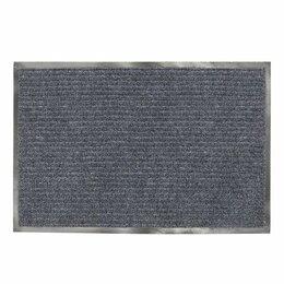 Ковры и ковровые дорожки - Коврик 90*120   Лайма ворсовый, ребристый, серый, толщина 7 мм (8), 0