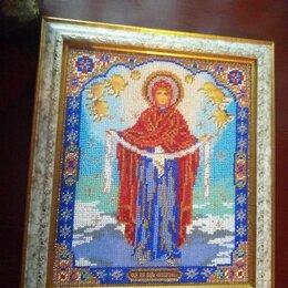 Иконы - Икона покров пресвятой богородицы вышивка бсером, 0