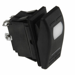 Электроустановочные изделия - Переключатель двухпозиционный ON-OFF 12В/16А 4Р с подсветкой, 0