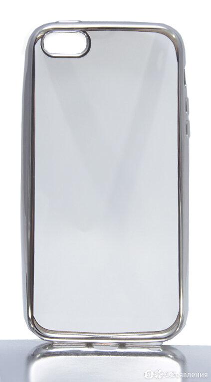 Чехол-накладка для iPhone 5/5S/SE РАМКА TPU серебро по цене 105₽ - Защитные пленки и стекла, фото 0