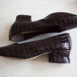 Туфли - Туфли женские лаковые крокодиловые 39 размер Diana. Германия, 0