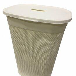 Корзины, коробки и контейнеры - Корзина для белья с крышкой Oslo 55л (43*34*60 см), молочный PT1334МЛ Plast team, 0