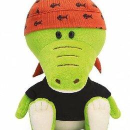 Киндер-сюрприз - Крокодильчик Кики в черной футболке и бандане мягкая игрушка, 0
