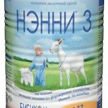 Ингредиенты для приготовления напитков - НЭННИ 3 Сухой Молочный Напиток на основе Козьего Молока {с 12 мес} 400г., 0