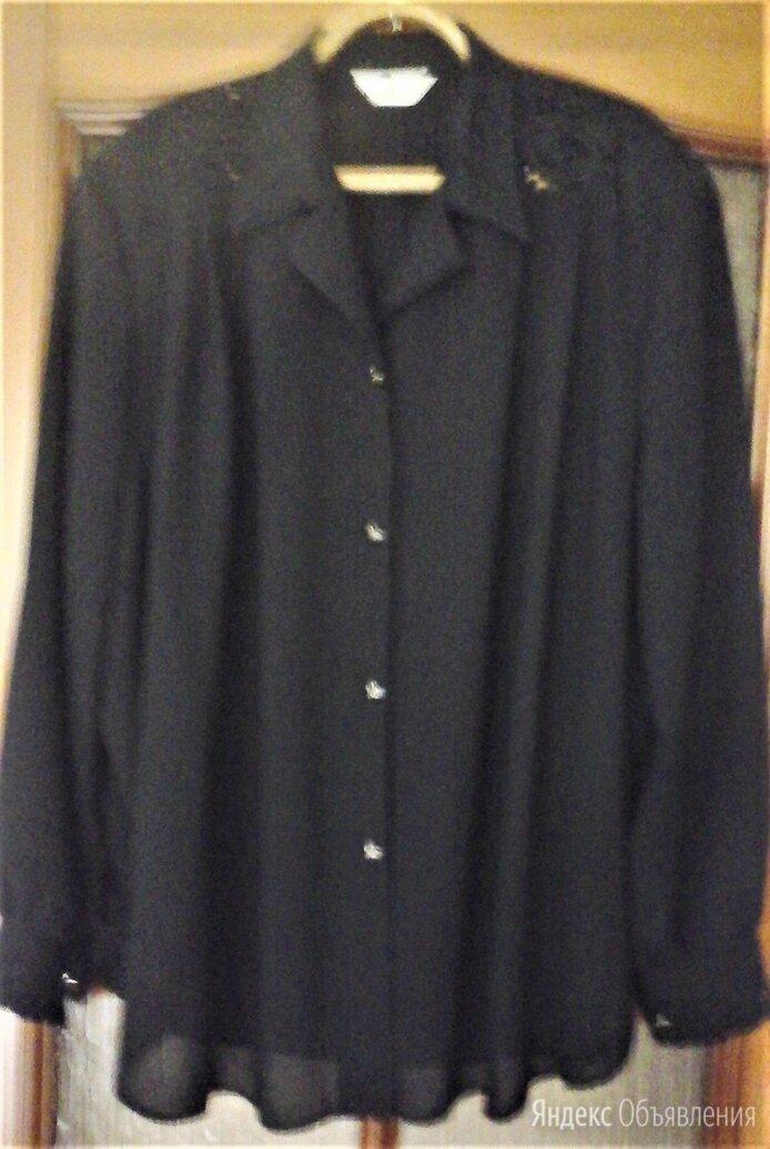 Блуза черная, вискоза, кружево по цене 700₽ - Блузки и кофточки, фото 0