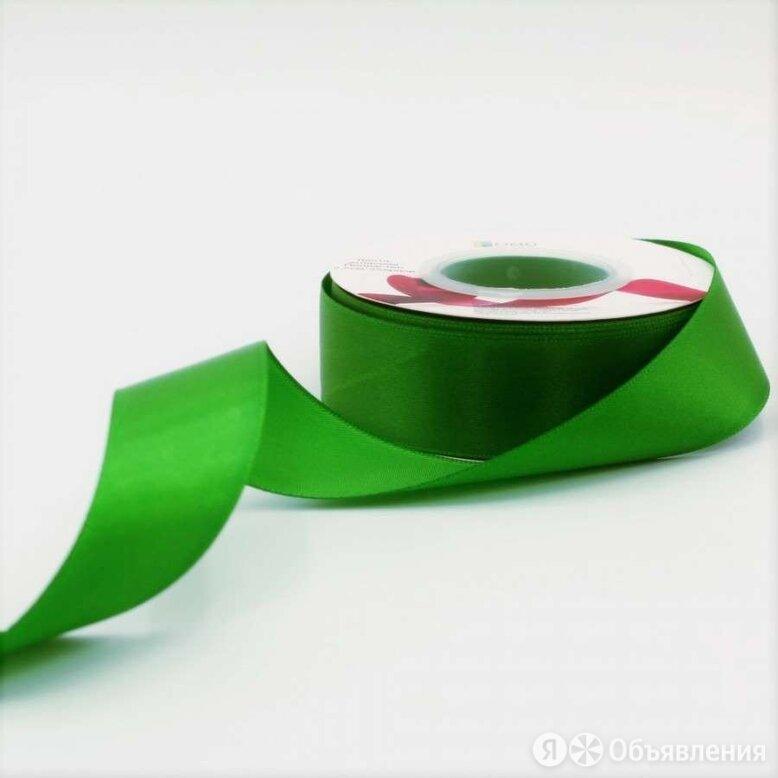Лента Атласная Полиэстер класс А Зелёный 2,5см x 2 по цене 100₽ - Металлопрокат, фото 0