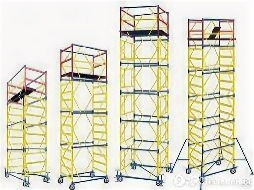 Вышка-тура ПСРВ-22 - 6,3 м (4 секции + базовый блок) по цене 50410₽ - Вышки и строительные леса, фото 0