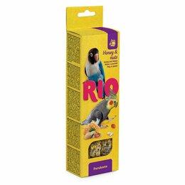 Корма - РИО палочки для средних попугаев с медом и орехами, 0