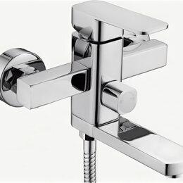 Краны для воды - LEDEME Смеситель для ванны (Zn) короткий излив, дивертор в корпусе, керам.кар..., 0