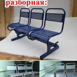 Мебель для учреждений - Скамейка многоместная секция стулья (3-х местная), 0