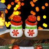 Набор для специй Доляна «Снеговик», 2 шт: солонка, перечница, 5,5×8,5 см по цене 658₽ - Солонки, перечницы и ёмкости для специй, фото 1