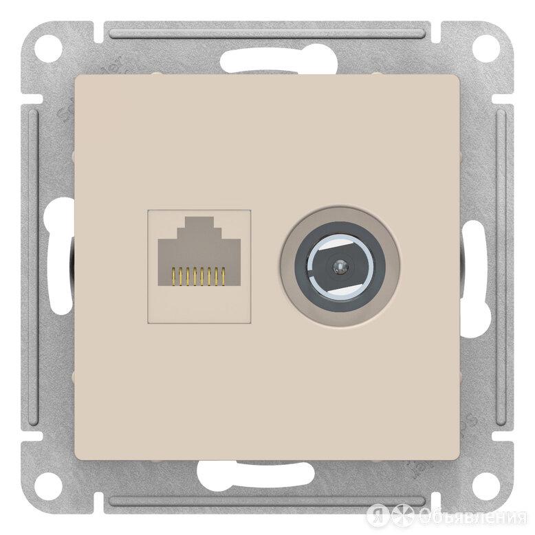Розетка 2гн комп+ТВ RJ45+TV с/у крем AtlasDesign Schneider Electric (1/10) по цене 568₽ - Системы Умный дом, фото 0
