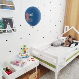 Кроватки - Детская кроватка домик с крышей с одной стороны, 0