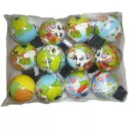 Игрушки  - Мяч на резинке мини (Забавные животные) 5см 1/12, 0