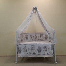 Постельное белье - Набор в кроватку 7 предметов Мишка. Бежевый /Новый/., 0