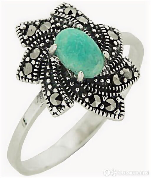 Кольцо Марказит HR1006-amazonit-mr_18 по цене 1240₽ - Кольца и перстни, фото 0