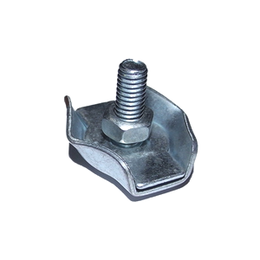 Запонки и зажимы - Зажим для стальных канатов одинарный SIMPLEX, цинк 8 мм, 0