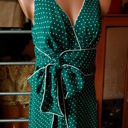 Платья - Платье зеленое в горошек, Zarina, 0