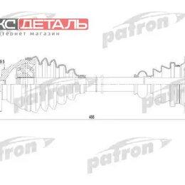 Трансмиссия  - PATRON PDS0252 Полуось передняя левая 36x491x59.5 AUDI A3 03- \ SEAT LEON 05-..., 0