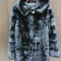 Шубы - Шуба норковая с капюшоном 48 , 0