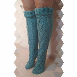 Колготки и носки - Вязаные гольфы с аранами, 0