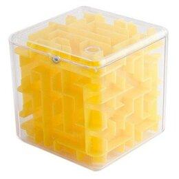 Головоломки - Головоломка лабиринт Эврика - Куб, желтая, 0