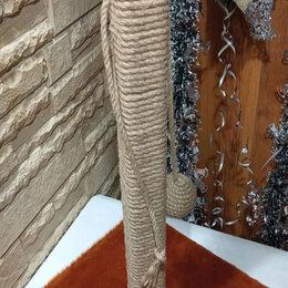Когтеточки и комплексы  - Когтеточка-столбик  с джутовым плетением и пропиткой, 0