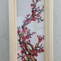 Рукоделие, поделки и сопутствующие товары - Дерево сакура вышивка веточка, 0