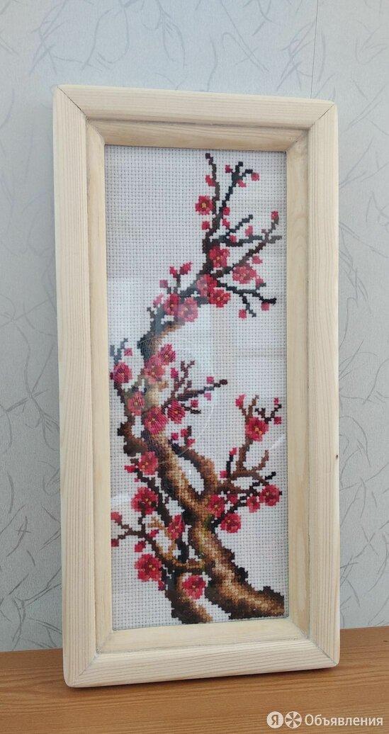 Дерево сакура вышивка веточка по цене 2000₽ - Рукоделие, поделки и сопутствующие товары, фото 0