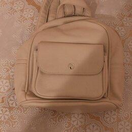 Рюкзаки - Рюкзак женский кожаный светлый, 0