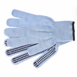 """Одежда - Перчатки трикотажные, акрил, ПВХ гель, """"Протектор"""", цвет зенит, оверлок ..., 0"""