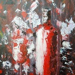 """Картины, постеры, гобелены, панно - Картина """"Вино""""  на подрамнике 30×45 (акрил/мастихин), 2021, 0"""