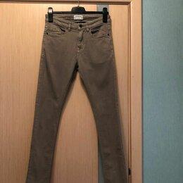 Джинсы - 42 размер «Pull & Bear» серо-бежевые джинсы скинни, 0