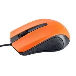 Коврики для мыши - Мышь проводная оптическая Perfeo RAINBOW, 3 кн, 1000 dpi, USB, чёрн-оранж (PF..., 0