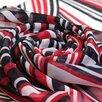 Стильный женский красно-бело-синий шарф 38830 по цене 1300₽ - Шарфы и платки, фото 3