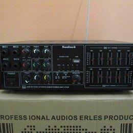 Усилители и ресиверы - Профессиональный усилитель звука с эквалайзером, 0