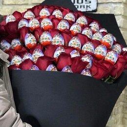 Киндер-сюрприз - 51 роза и 40 киндер яиц, 0