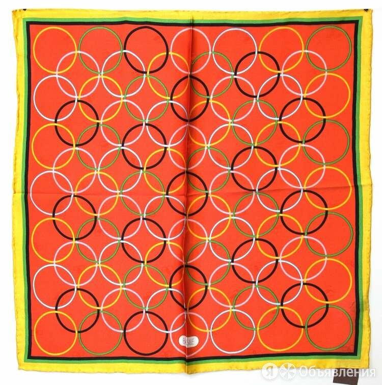 Шейный платок в кружочек Basile 29002 по цене 2600₽ - Шарфы и платки, фото 0