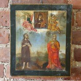 Иконы - Икона Тихвинская Пресвятая Богородица с  Преп. Алексий Человек Божий ..., 0