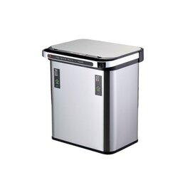 Мусорные ведра и баки - Ведро для раздельного сбора мусора, сенсорное, 2 емкости, Foodatlas  JAH-8885..., 0