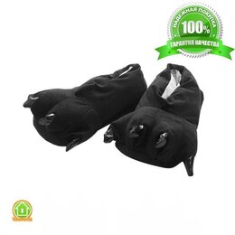 Кигуруми - Тапочки кигуруми (тапки-лапы), взрослые, размер 40-45, черный, 0